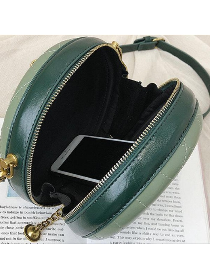 Green Circle Bag Chain Strap Crossbody Bag