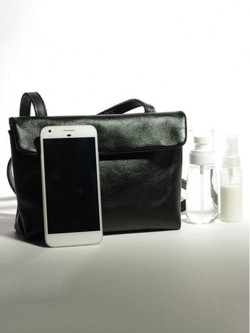 Black Retro Single Strap shoulder Square Bag